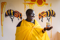 African people night scene