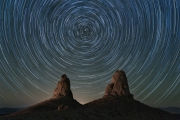 Star Trails at Trona Pinnacles - Trona Pinnacles, CA