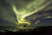 Where the Aurora comes from - The rock at Reykjanes, Iceland