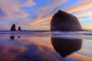 Reflections of Haystack Rock - Cannon Beach, Oregon