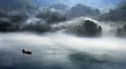 Misty Morning - Hunan Little River China.
