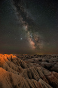 Sunset Meets Milky Way - Badlands National Park, SD